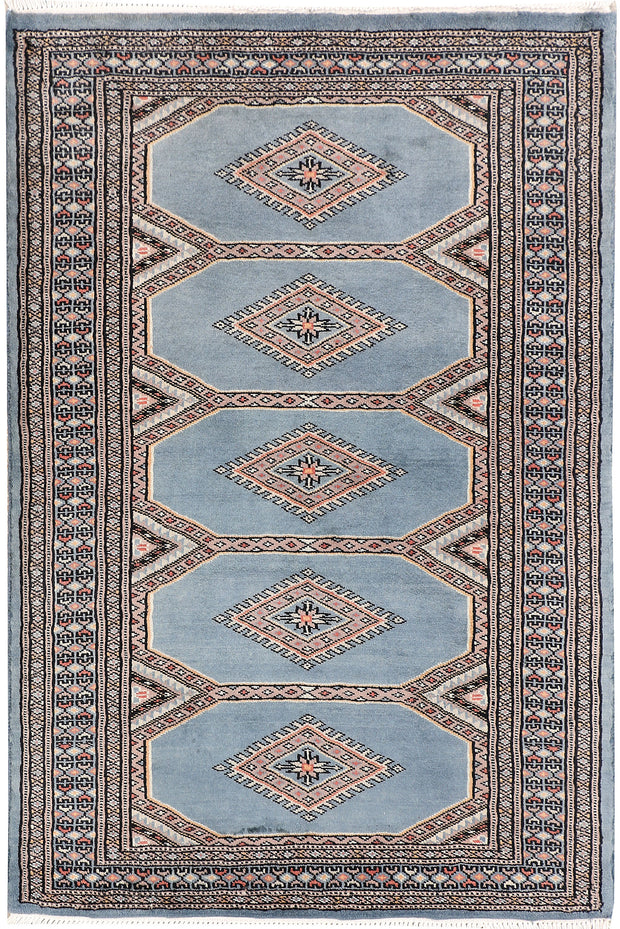 Light Slate Grey Jaldar 2' 7 x 4' - No. 47590 - ALRUG Rug Store