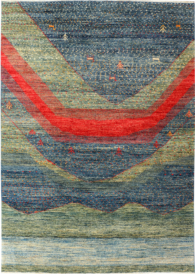 Multi Colored Gabbeh 5' 8 x 8' - No. 50765 - ALRUG Rug Store