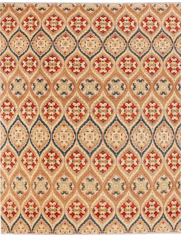 Multi Colored Ikat 7' 10 x 9' 7 - No. 52515 - ALRUG Rug Store