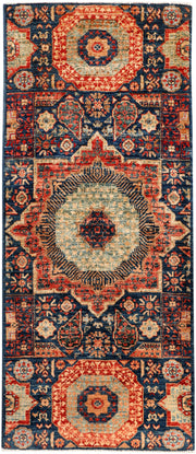 Midnight Blue Mamluk 2' 1 x 4' 10 - No. 53596 - ALRUG Rug Store