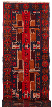 Midnight Blue Baluchi 2' 6 x 10' 1 - No. 53912 - ALRUG Rug Store
