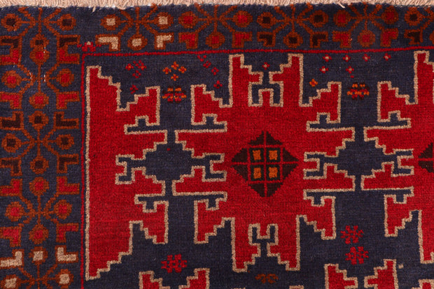 Midnight Blue Baluchi 3' 5 x 6' 2 - No. 54249 - ALRUG Rug Store
