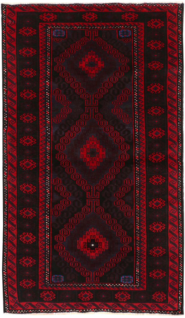 Multi Colored Baluchi 3' 5 x 5' 9 - No. 54267 - ALRUG Rug Store