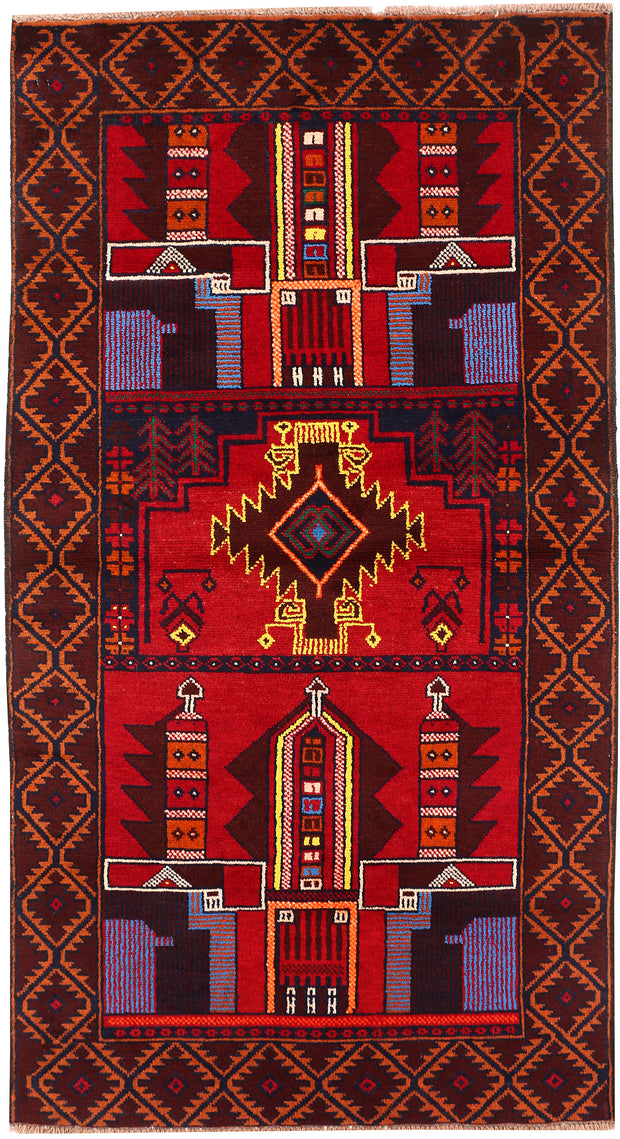 Multi Colored Baluchi 3' 4 x 6' 2 - No. 54268 - ALRUG Rug Store