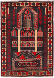 Black Prayer 3' 1 x 4' 5 - No. 54505 - ALRUG Rug Store