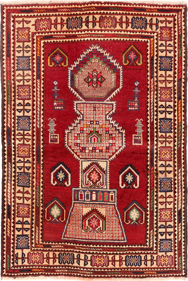 Dark Red Baluchi 2' 11 x 4' 4 - No. 54553 - ALRUG Rug Store