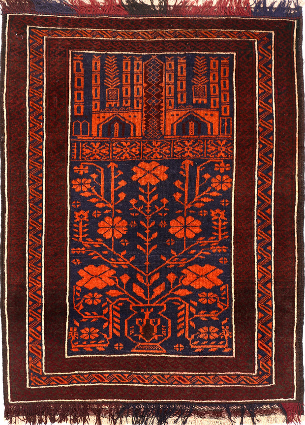 Midnight Blue Baluchi 2' 9 x 3' 7 - No. 54562 - ALRUG Rug Store
