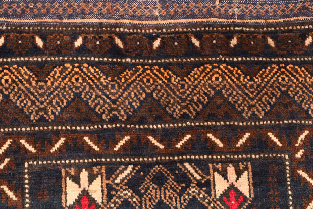 Multi Colored Baluchi 3' x 4' 4 - No. 54586 - ALRUG Rug Store