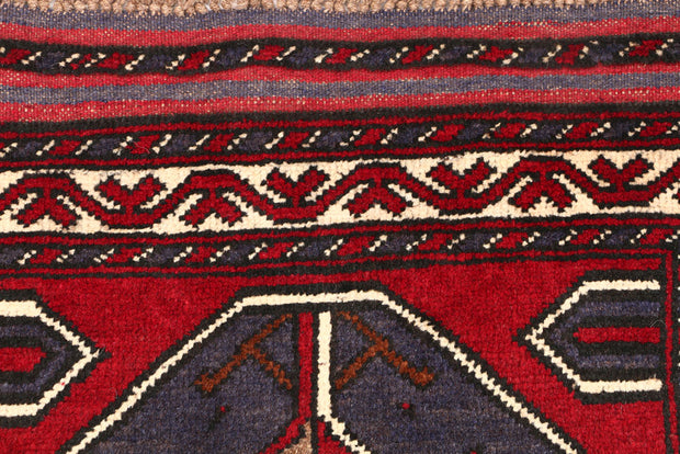 Dark Red Baluchi 2' 8 x 4' 5 - No. 54601 - ALRUG Rug Store