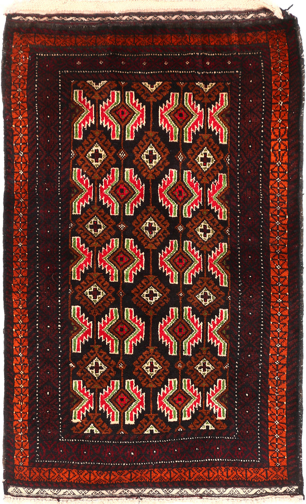 Multi Colored Baluchi 2' 6 x 3' 5 - No. 54619 - ALRUG Rug Store