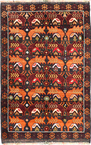 Multi Colored Baluchi 3' x 4' 5 - No. 54638 - ALRUG Rug Store