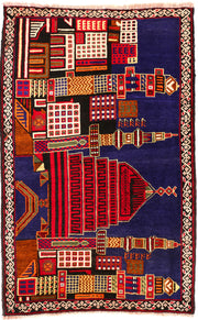 Multi Colored Prayer 3' x 4' 8 - No. 54669 - ALRUG Rug Store