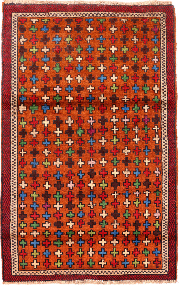 Multi Colored Baluchi 3' 3 x 5' 2 - No. 55140 - ALRUG Rug Store