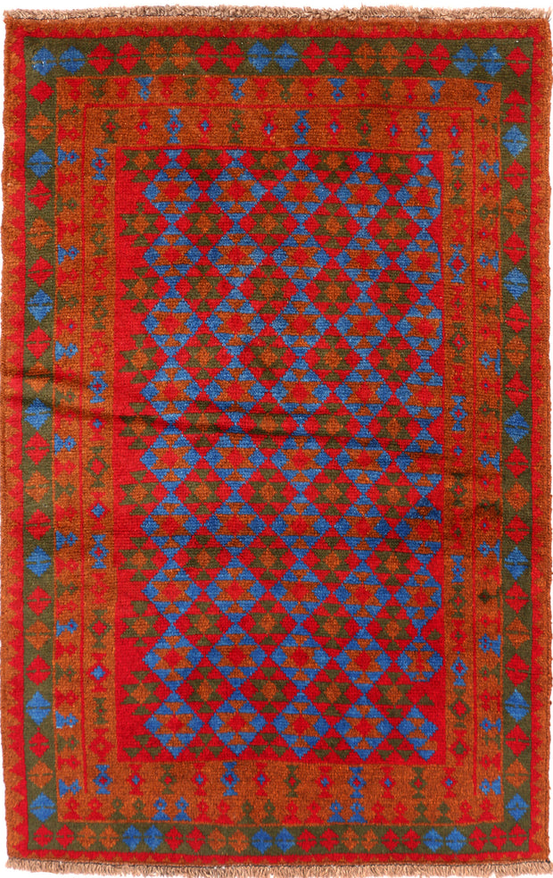 Multi Colored Baluchi 3' 2 x 4' 10 - No. 55157 - ALRUG Rug Store