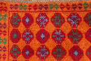 Dark Orange Baluchi 3' 5 x 4' 9 - No. 55166 - ALRUG Rug Store