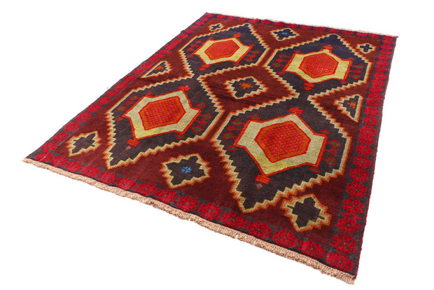 Multi Colored Baluchi 6' x 7' 5 - No. 55169 - ALRUG Rug Store