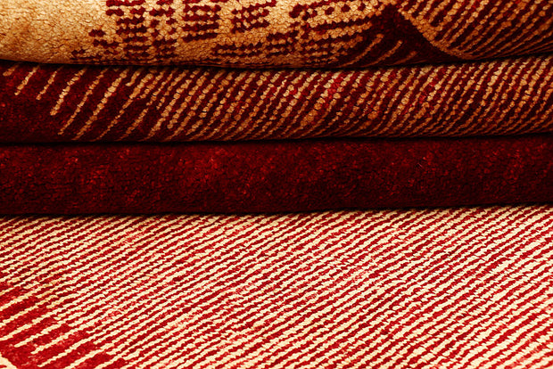 Dark Red Gabbeh 4' 7 x 6' 7 - No. 55728 - ALRUG Rug Store