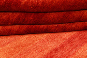 Orange Red Gabbeh 4' 6 x 6' 10 - No. 55748 - Alrug Rug Store