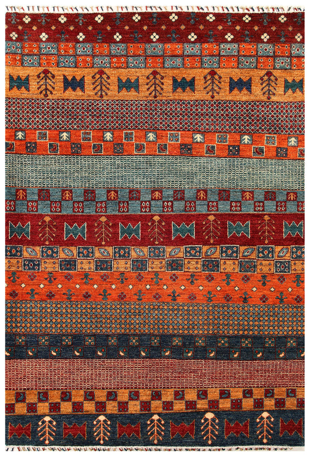 Multi Colored Gabbeh 5' 10 x 8' 3 - No. 55886 - ALRUG Rug Store