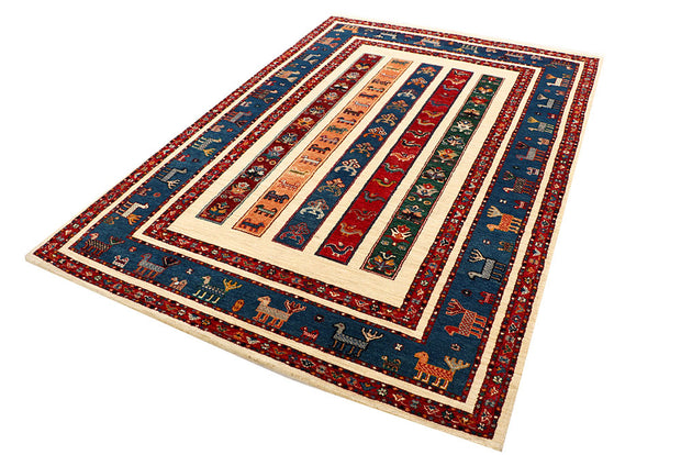 Multi Colored Gabbeh 5' 7 x 8' 1 - No. 55893 - ALRUG Rug Store