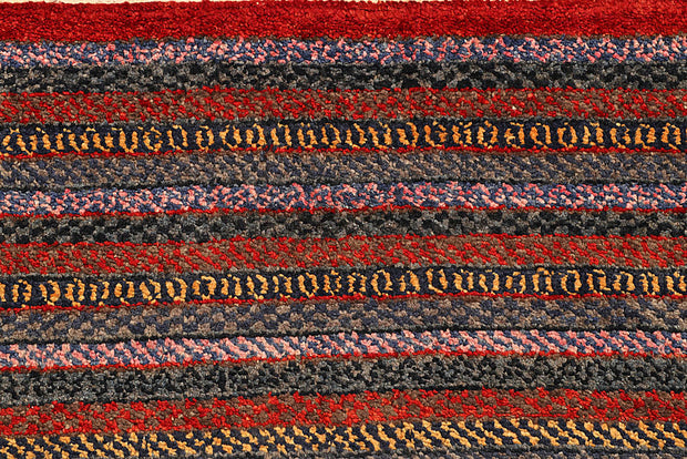 Multi Colored Gabbeh 6' 6 x 7' 10 - No. 56026 - ALRUG Rug Store