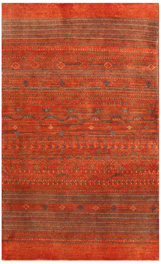 Orange Red Gabbeh 3' x 4' 11 - No. 56450 - ALRUG Rug Store