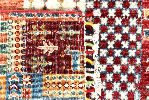 Multi Colored Kazak 2' 7 x 8' 11 - No. 57568 - ALRUG Rug Store