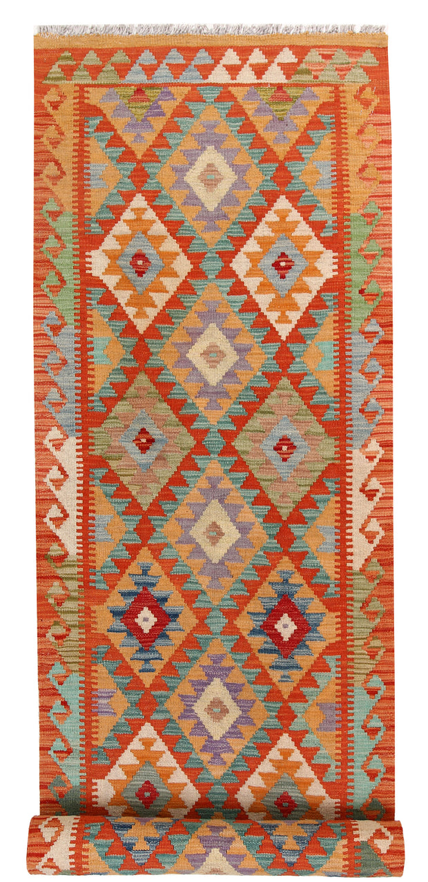 Multi Colored Kilim 2' 9 x 12' 11 - No. 58379 - ALRUG Rug Store