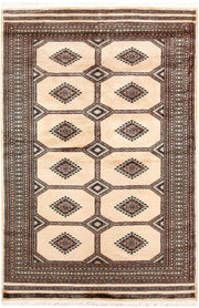 Blanched Almond Jaldar 4' 7 x 7' 1 - No. 58727 - ALRUG Rug Store
