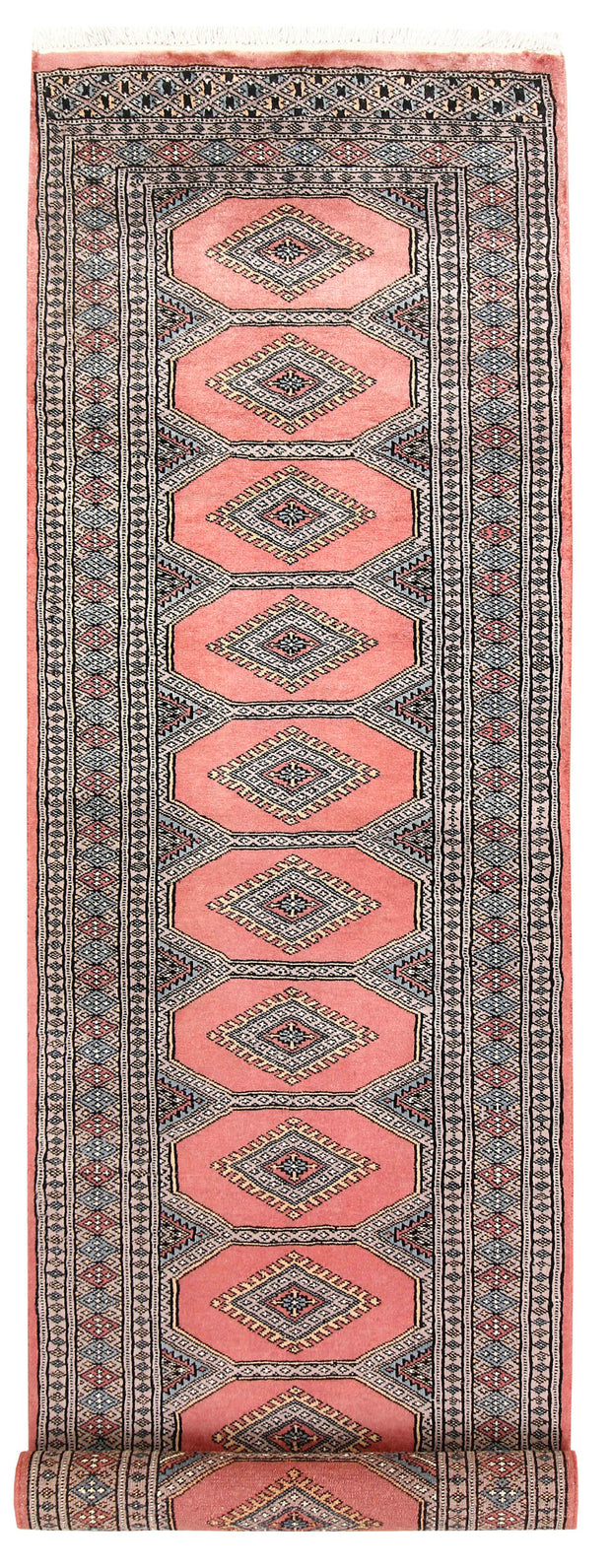 Light Salmon Jaldar 2' 4 x 9' 1 - No. 58954 - ALRUG Rug Store
