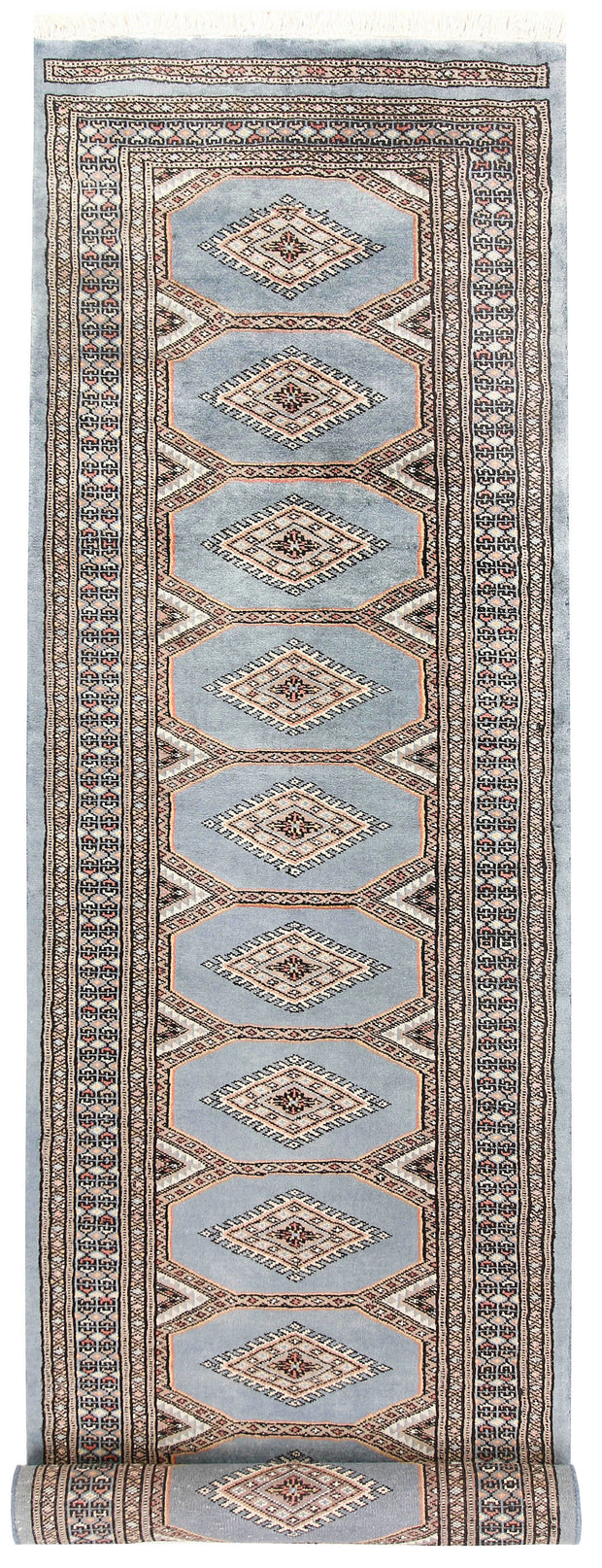 Light Steel Blue Jaldar 2' 4 x 8' 10 - No. 58959 - ALRUG Rug Store