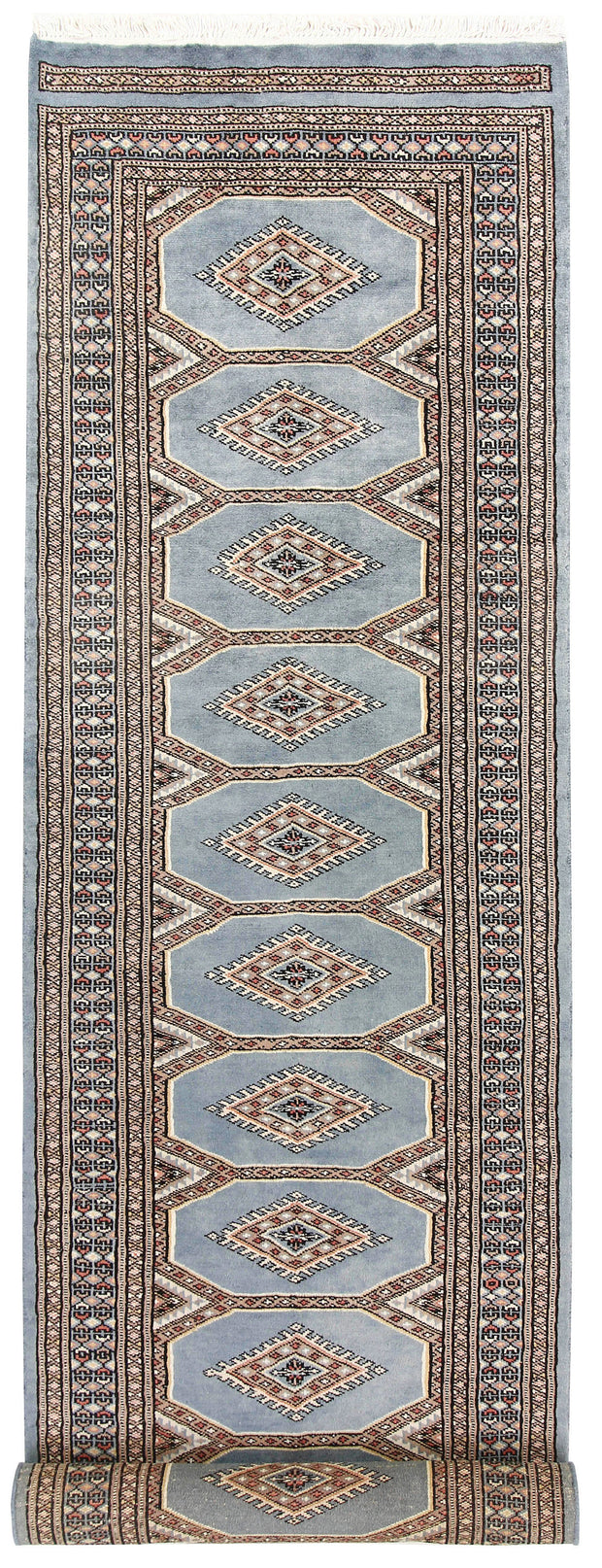 Light Slate Grey Jaldar 2' 4 x 8' 10 - No. 58964 - ALRUG Rug Store