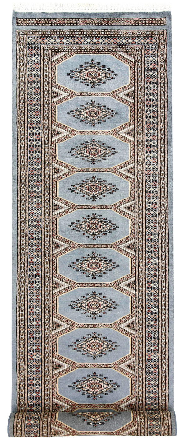 Light Slate Grey Jaldar 2' 4 x 9' 1 - No. 58968 - ALRUG Rug Store