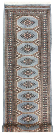 Light Slate Grey Jaldar 2' 4 x 8' 10 - No. 58970 - ALRUG Rug Store