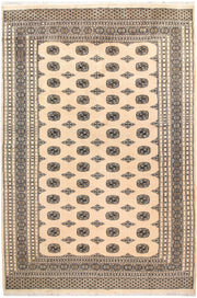 Blanched Almond Bokhara 7' 10 x 11' 9 - No. 59539 - ALRUG Rug Store