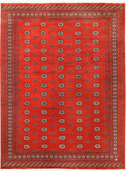 Orange Red Bokhara 10' 2 x 14' 3 - No. 59614 - ALRUG Rug Store