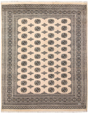 Blanched Almond Bokhara 6' 10 x 8' 6 - No. 59698 - ALRUG Rug Store