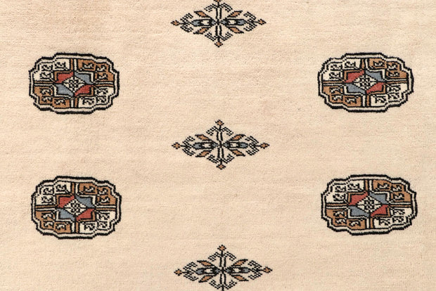 Blanched Almond Bokhara 6' 7 x 7' 7 - No. 59703 - ALRUG Rug Store