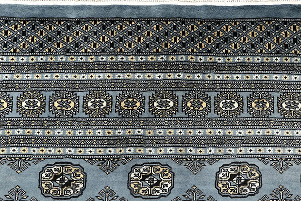 Light Slate Grey Bokhara 9' x 12' 4 - No. 59976 - ALRUG Rug Store