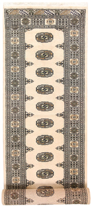 Blanched Almond Bokhara 2' 7 x 13' 2 - No. 59986 - ALRUG Rug Store