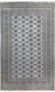 Light Slate Grey Bokhara 6' x 9' 10 - No. 60249 - ALRUG Rug Store