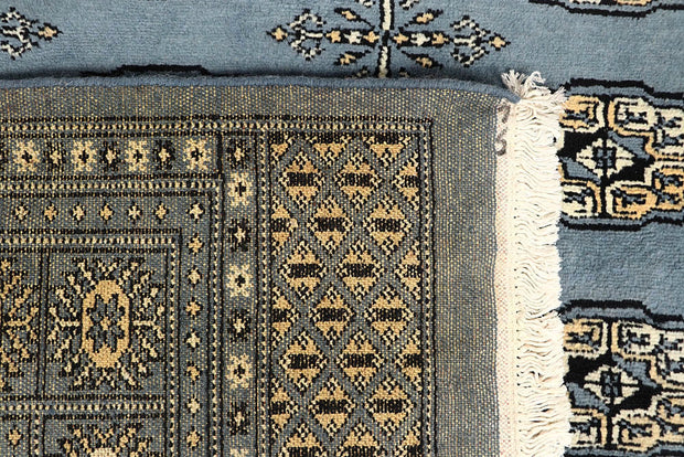 Light Slate Grey Bokhara 6' x 9' - No. 60302 - ALRUG Rug Store