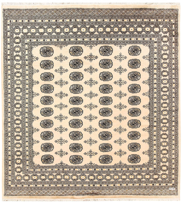 Blanched Almond Bokhara 6' 6 x 7' - No. 60830 - ALRUG Rug Store