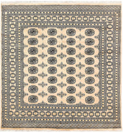 Blanched Almond Bokhara 6' 6 x 6' 9 - No. 60832 - ALRUG Rug Store