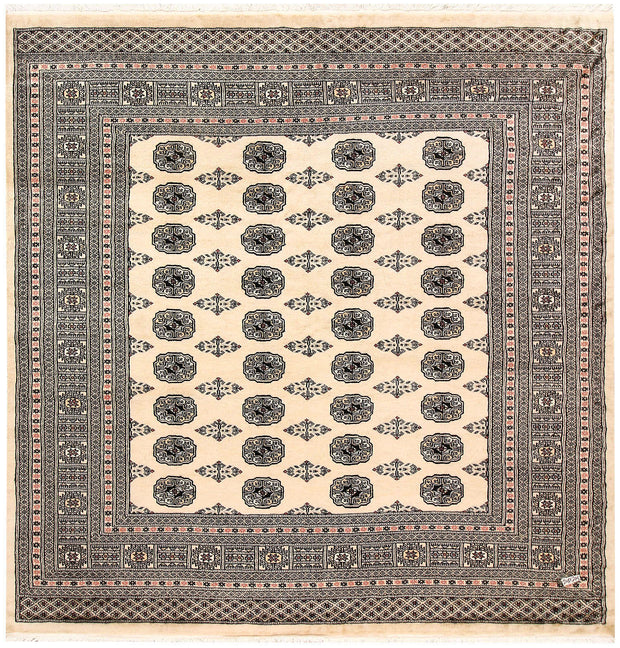 Blanched Almond Bokhara 6' 9 x 6' 10 - No. 60838 - ALRUG Rug Store