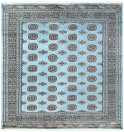 Light Sky Blue Bokhara 6' 7 x 6' 10 - No. 60868 - ALRUG Rug Store