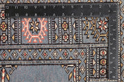Light Slate Grey Bokhara 4' 2 x 6' 2 - No. 60883 - ALRUG Rug Store