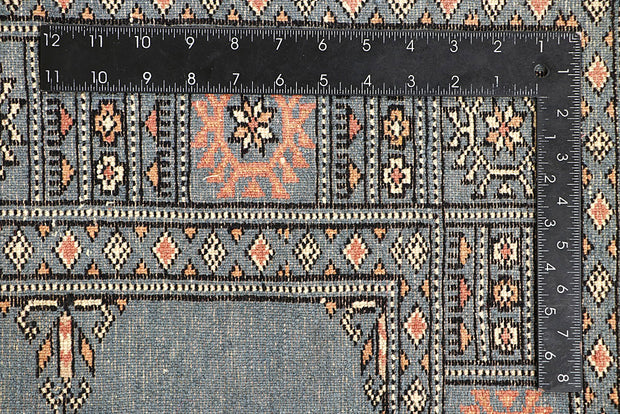 Light Slate Grey Bokhara 4' x 5' 10 - No. 60885 - ALRUG Rug Store
