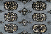 Light Slate Grey Bokhara 4' 1 x 6' - No. 61045 - ALRUG Rug Store