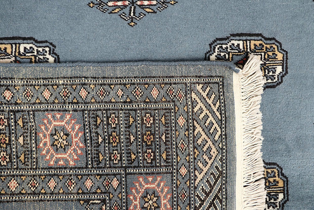 Light Slate Grey Bokhara 4' 2 x 6' 9 - No. 61049 - ALRUG Rug Store